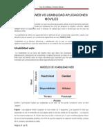 Usabilidad Web vs Usabilidad Aplicaciones Moviles Romero Bolivar