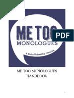 Me Too Monologue Handbook