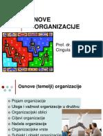 Osnove Organizacije