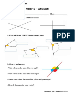 3rd Geometry Unit 2 Angles Exercises