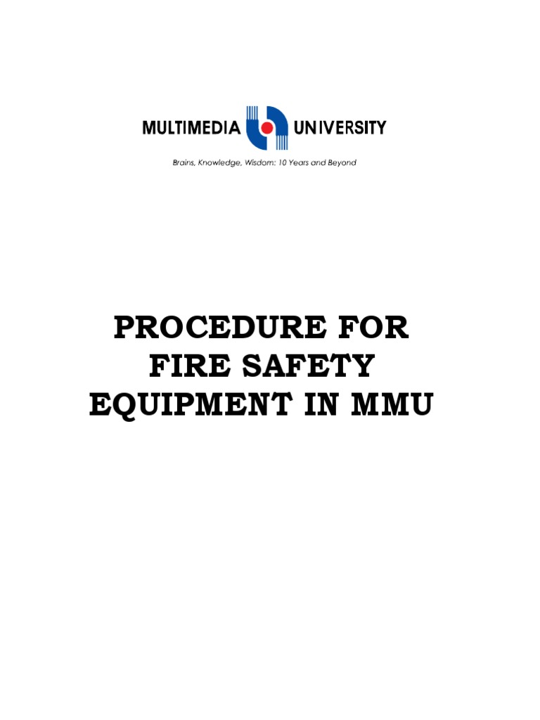 Dm364_Procedure for Fire Safety Equipments in MMU