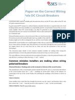 Dc Circuit Breaker Wiring