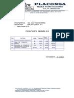 Proforma Hector Planos 2014