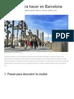 Guía de Barcelona-20 Cosas Para Hacer en La Ciudad