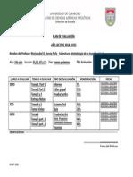 Plan Evaluacion 2014-2015 Metodologia II Mariaisabel G. Garcia P.