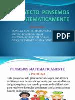 PROYECTO PENSEMOS MATEMATICAMENTE