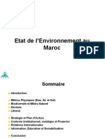 Etat de l'Environnement Au Maroc