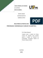 RELATÓRIO DE QUÍMICA PRÁTICA 04