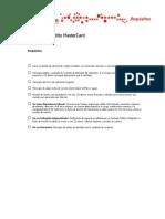 Requisitos Tarjeta de Crédito MasterCard -Notilogia