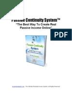 IA Passive Continuity System