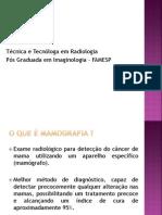 Aula de Introdução à Mamografia