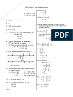 PAP Chapter 3 Test Review Solutions
