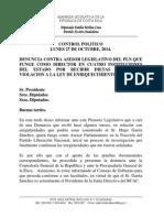 Control Político de la Dip. Emilia Molina. Caso Superposición horaria de Hugo Garita Sánchez.