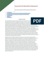 Administración de Proyectos de Desarrollo de Sistemas de Información