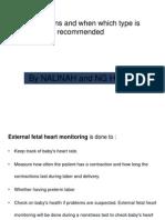Indications of Fetal Heart Monitoring