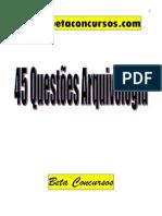 45 Questões de Arquivologia