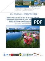 Programa Gira Regional  Institucionalidad GRH Per+¦. set.