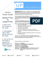 Lift Up Prayer Booklet