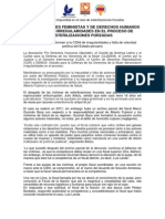 Nota de Prensa sobre Esterilizaciones Forzadas 03/11