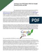Cómo Posicionar Una Página Web En Google En 2 Semanas ~ Informáticos on line