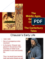 mwchaucer and the canterbury tales background notes powerpoint