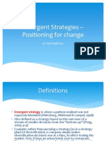 Wk 2 Emergent Strategies – Positioning for Change Dr Poh