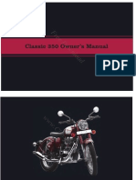 Royal Enfield 350 Classic Owners Maintenance Manual