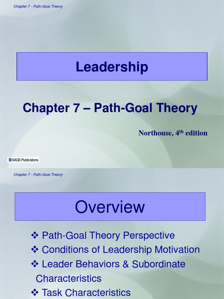 what is path goal theory of leadership
