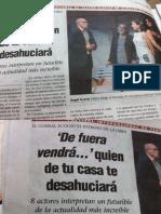 2014-07 de Fuera Vendra, Prensa Del Estreno en El Corral de Comedias de Almagro