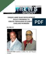 Unique Army Base Development Policy