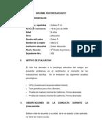 Informe Psicopkñlkoñledagógico Cuadros Herrera Juan Carlos