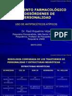 TRATAMIENTO FARMACOLOGICO DE LOS DESORDENES DE PERSONALIDAD