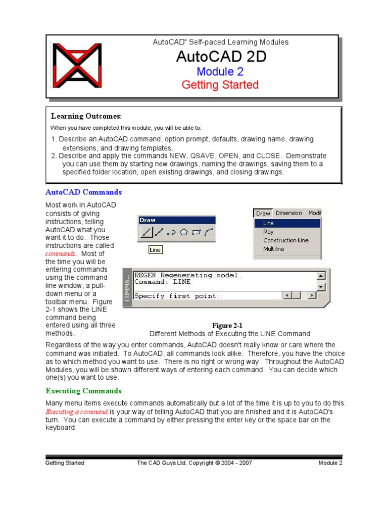 autocad commands and their uses pdf