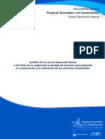 Análisis de La Ley de Desarrollo Rural a Los Fines de La Asignación y Manejo de Recursos Que Propicien