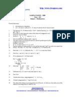 Maths Sample Paper 12