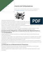 6. Manual de Mantenimiento de Computadoras