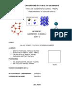 Informe N° 5 - Enlace Químico y Fuerzas Intermoleculares