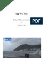 Report Text Natural Phenomenon