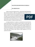 Centrales Hidroelectricas Más Importantes de Venezuela