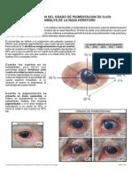 Determinación Del Grado de Pigmentacion de Ojos en Animales de La Raza Hereford