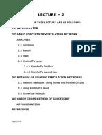 9.2 Ventilation Netword Analysis - Network Analysis