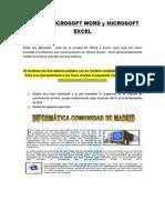 Prueba Microsoft Word y Microsoft Excel