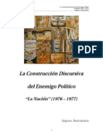 La Construccion Discursiva Del Enemigo Politico La Nacion