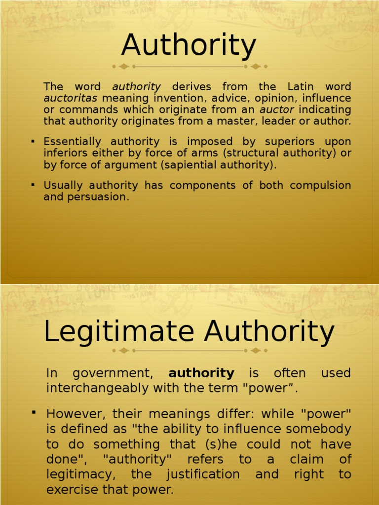 What is authority: definition, meaning 87