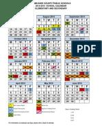 Dade School Calendar 2014 to 2015