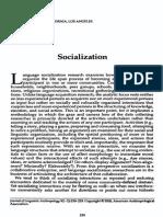 Week 5 - Ochs Socialization
