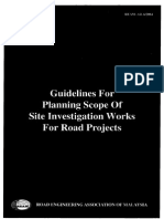 Guidelines for Planning Scope of Site Investigation Works for Road Project