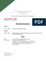 Programa segundo Foro Mundial de Gastronomía Mexicana