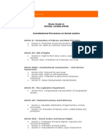 Constitutional Provisions and Cases on Social Justice