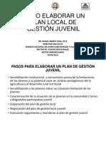 Como Elaborar Un Plan Local de Gestión Juvenil (1)